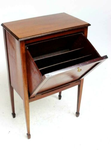 Vintage Mahogany Record Cabinet [6490]