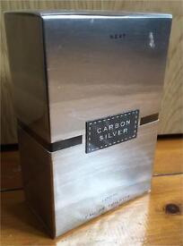 Brand New Next Men's Carbon Silver 100ml EDT fragrance