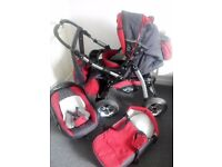 Baby Merc Pushchair Stroller Pram 3 in 1