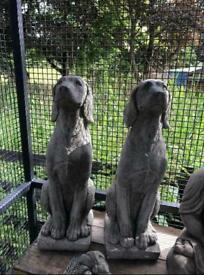 Stone hound statue