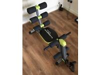 Wondercore 2 work out bench for legs arms bums and tums as new