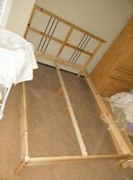 Ikea double slated bed with mattress