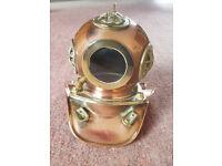 Antique / Vintage Copper and Brass Model Deep Sea Diving Helmet