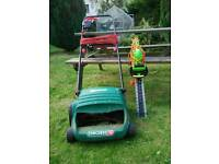 Hedge cutter and lawn mower