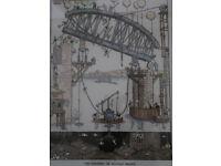 Tamar bridge Heath Robinson print