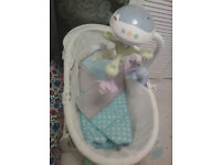 Baby Moses Basket with Cradle