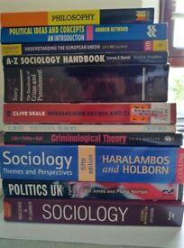 sociology politics criminology research methods philosophy textbooks