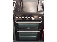 Hotpoint 60cm double oven and grill electric ceramic cooker