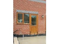 UPVC back door with window