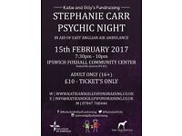 Fundraising Stephanie Carr Psychic Night