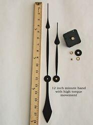 Make or Repair a Large Clock w/ 12 Hands & High Torque Quartz Movement / Motor