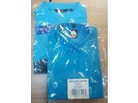 "2x Turquoise/Teal Men's Shirt Sleeve Shirts 15.5"" collar"