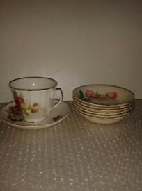 Tea cup and Saucers.
