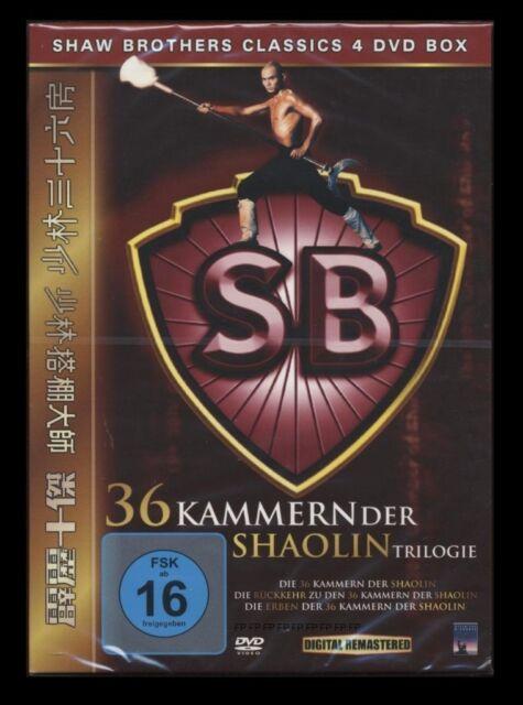 DVD 36 KAMMERN DER SHAOLIN TRILOGIE - 4 DISC BOX SET - SHAW BROTHERS *** NEU ***