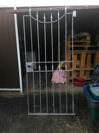 840W/1800H STEEL SECURITY GATE WITH KEYS.Just needs wall hinges.