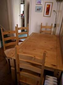 Corona Mexican Pine Table & Chairs