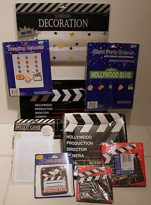 ACADEMY AWARDS PARTY SUPPLIES Oscars Movie Plates Emmy Film Napkins Plates - Oscar Party Supplies