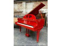 Gors & Kallman 4.6ft Baby Grand Piano |Belfast || Red | **Belfast Pianos**