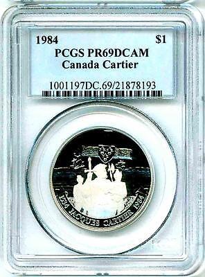 1984  1 Canada Jacques Cartier Pcgs Pr69 Dcam