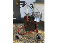 3 wheel walker, Zimmer frame, walking frame, mobility aid