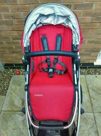 Uppababy Vista 2015 in deny red