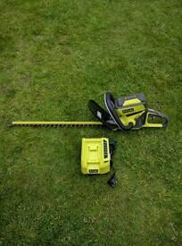 Ryobi 36 volt cordless hedge trimmer