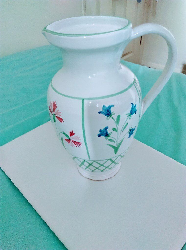 Vintage Antique Floral Ceramic Jugvase In Oxford Oxfordshire