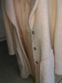 Size 10 blush coloured oversize coat from Dorothy Perkins - rarely worn
