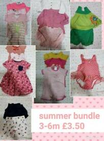 Baby girls 3-6 month summer clothes bundle