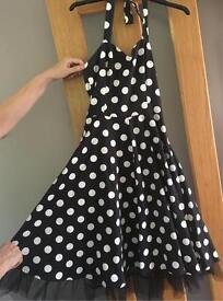 1950s Vintage Polka Dot Dress