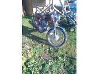 Vintage convertion hongdou 125cc motorbike