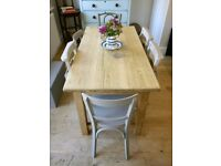 Victorian pine rustic kitchen table, dining table, vintage table, pine table, 6 seater, (
