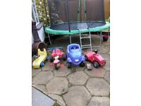 Garden toys ( bike, tractor, cars)