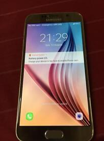 Stunning Samsung S6 mobile phone 64gb open to all networks