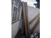 TIMBER JOISTS & ROOFING FIBREGLASS/PLASTIC SHEETS