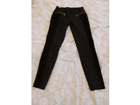 NEW trousers grey with black ornaments size 40 / 12