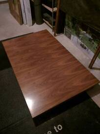 Wooden Extending Dining Table & Leather Chairs