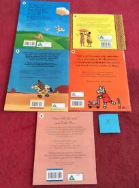 Set of 5 Children's Story Books & DVD Set X