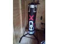 Punch Bag Stand With Punch Bag, Speed Ball, Gloves & Training Gloves