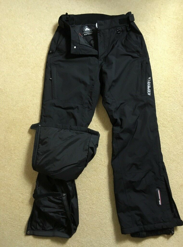 ICEPEAK Skiing/Snowboarding Trousers - (Black, Size 50/M-L)