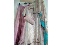 Beautiful 3 piece Indian Wedding Dress
