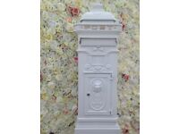 WEDDING POST BOX HIRE - VINTAGE CAST IRON HIRE ONLY £15.00
