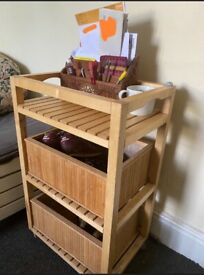 Telephone Table and Letter Rack