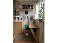 One desk space in creative hub, within a shared artist studio. Bethnal Green/Shoreditch.