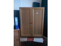 Low Beech Wood Cupboard