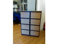 4 Drawer Oak Wood Filing Cabinet