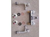 Old Hot & Cold Mixer + Taps (Used but in good condition with all the fittings)