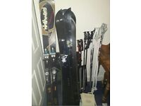 Job lot of Skis and Snowboard and poles!