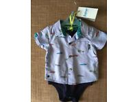 Boys Ted Baker Shirt Outfit 6-9mths