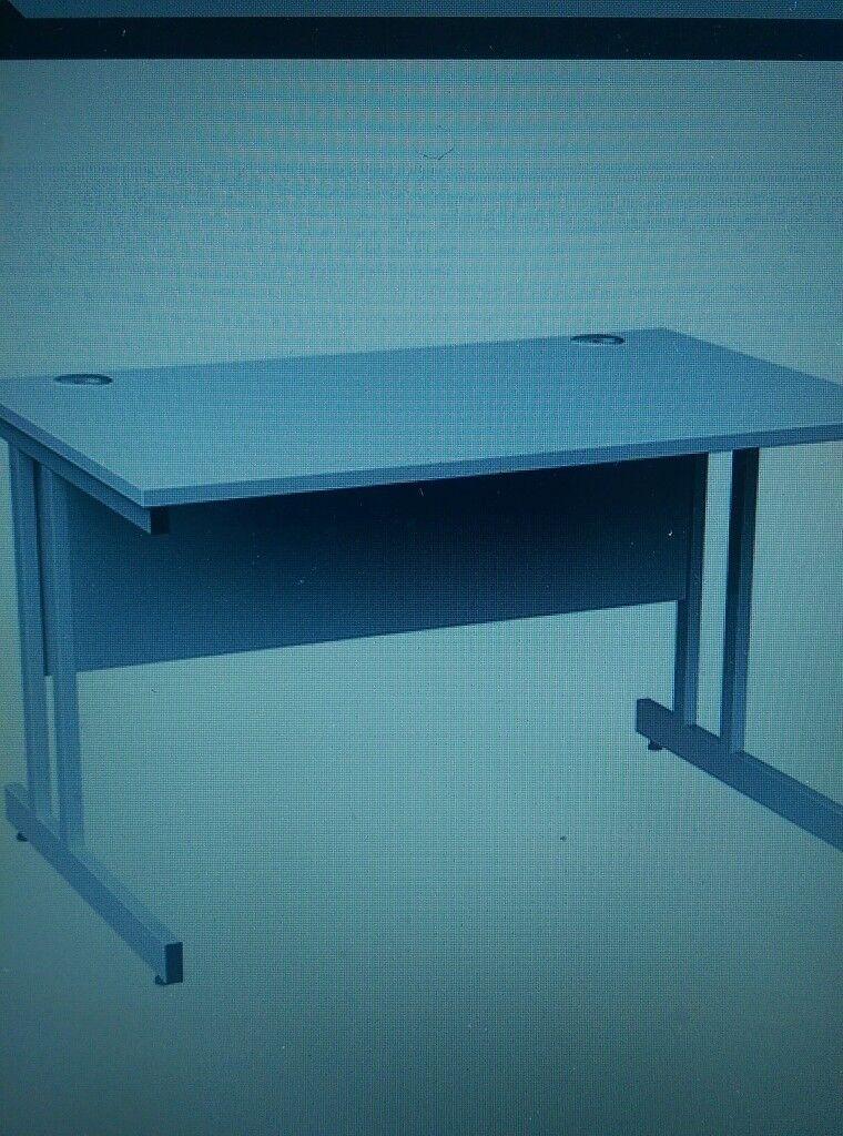 New White wood effect office desks 1200mm
